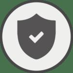 Icon Schild mit Häkchen