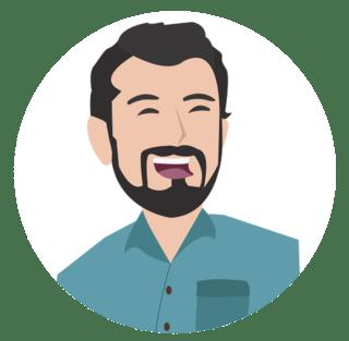 Zeichnung Mann mit Bart