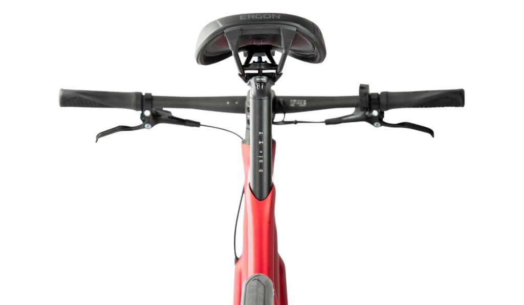 Sattel und Lenker eines Fahrrads