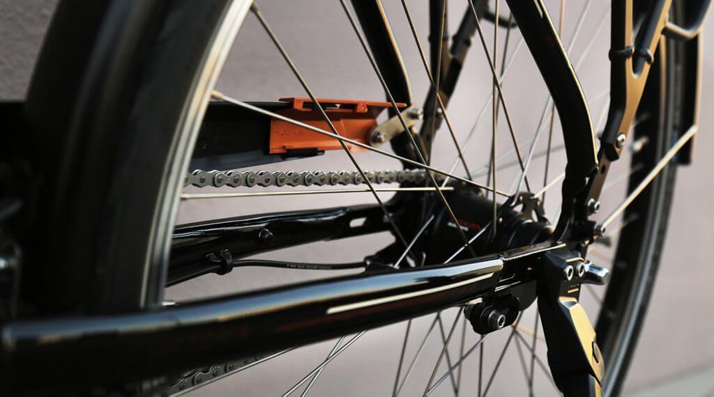 Nahaufnahme eines Fahrrad von Victoria