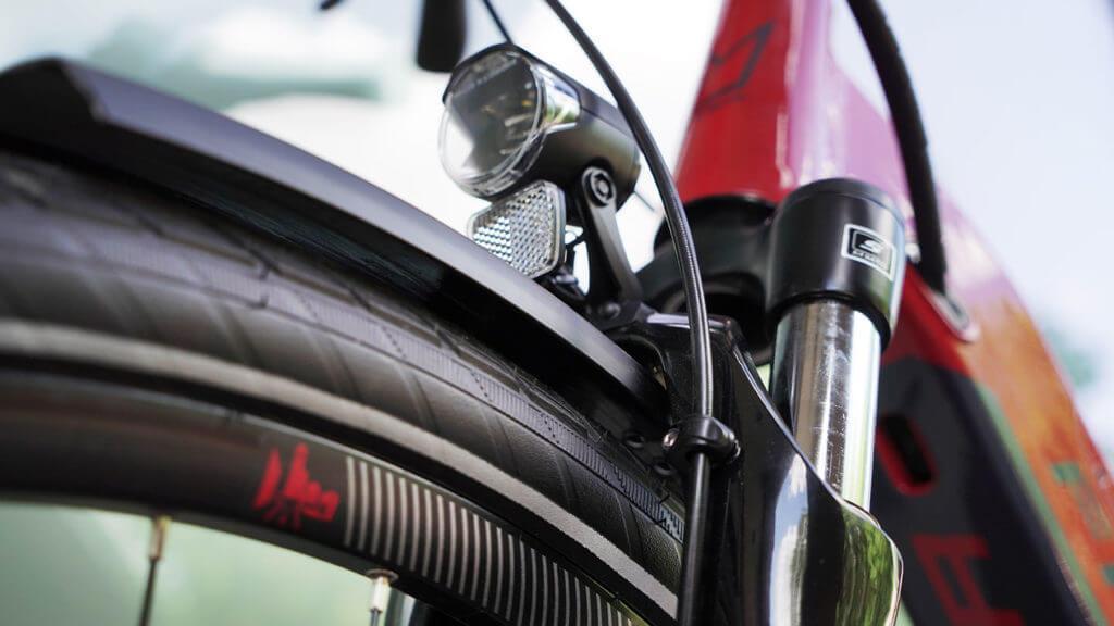 Fahrradreifen und Licht