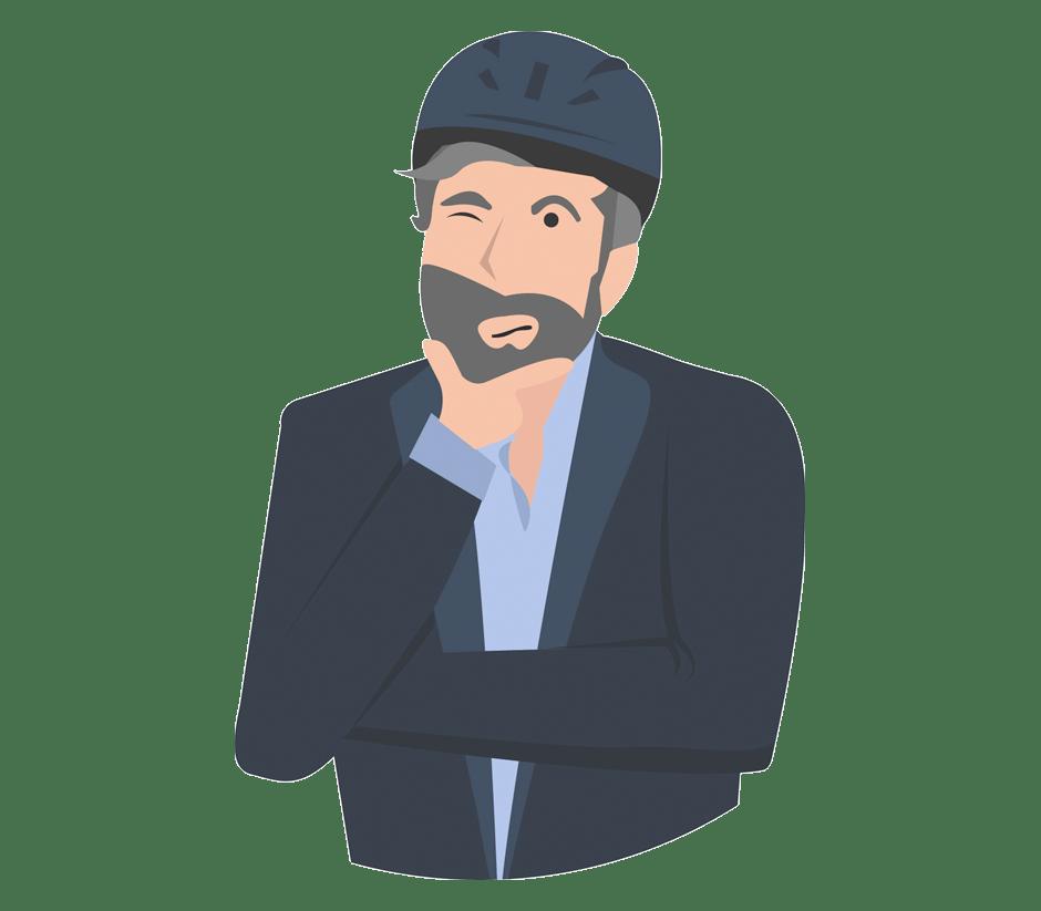 Icon Mann mit Helm